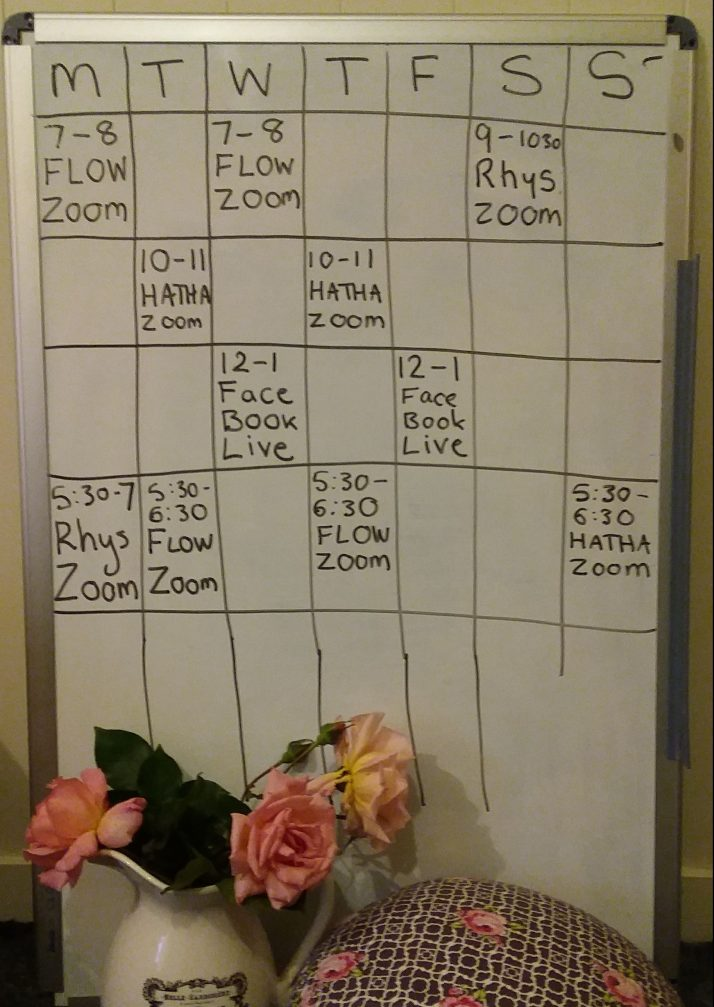The Special Lockdown Retreat Online Yoga Timetable